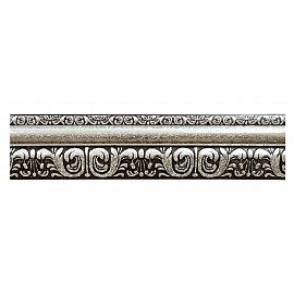 """Карниз потолочный багетный """"Сонет"""", 3 ряда, белое серебро, 320 см"""