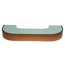 """Карниз потолочный пластиковый поворотный """"Стандарт"""", 3 ряда, бук, 260 см"""