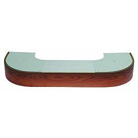 """Карниз потолочный пластиковый поворотный """"Стандарт"""", 3 ряда, дуб, 260 см"""