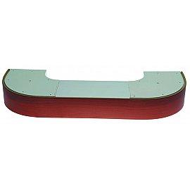 """Карниз потолочный пластиковый поворотный """"Стандарт"""", 3 ряда, вишня, 280 см"""