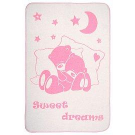"""Одеяло детское """"Сони"""", белый-розовый, 100*140 см"""