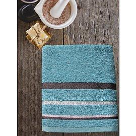 Полотенце махровое TexRepublic Cotton Line, бирюзовый, 50*90 см