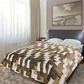 """Плед фланель Absolute печатный """"Новый бамбук"""", коричневый, 150*200 см"""