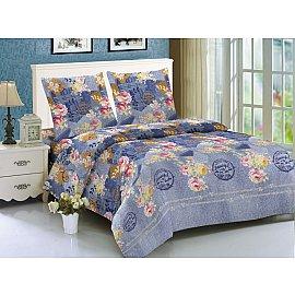 КПБ мако-сатин печатный Jeans (2 спальный), синий