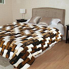 """Плед микрофайбер """"TexRepublic Happy Бамбук коричневый"""", коричневый, 180*220 см"""