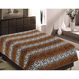 """Плед фланель Absolute печатный """"Шкура леопарда классическая"""", коричневый, 180*220 см"""