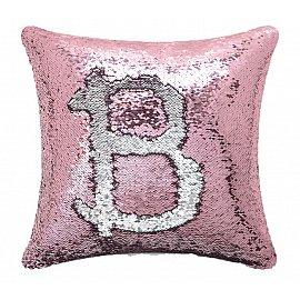 Подушка переводная из пайеток Magic Shine, розовое серебро, 40*40 см