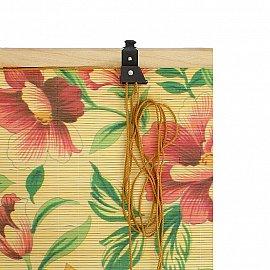 "Бамбуковая рулонная штора ""Мальва"", 100 см"