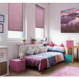 "Рулонная штора ""Сантайм-жаккард Веда Фиолетовый"", ширина 81 см"