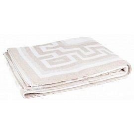 """Одеяло хлопковое """"Греция"""", белый, бежевый, 140*205 см"""