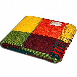 """Плед шерстяной """"Эльф"""", желтый, зеленый, красный-1, 170*210 см-A"""