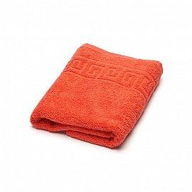 Полотенце махровое Ашхабад греческий бордюр, оранжевый, 50*90 см