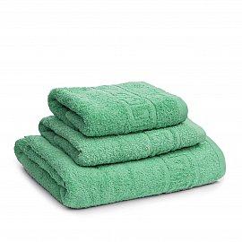 Полотенце махровое Ашхабад греческий бордюр, морской зеленый, 40*70 см