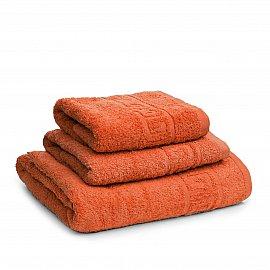 Полотенце махровое Ашхабад греческий бордюр, морковный, 50*90 см