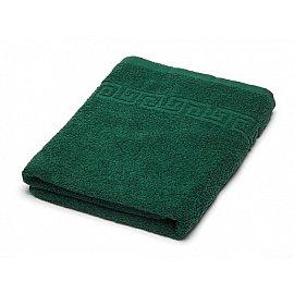 Полотенце махровое Ашхабад греческий бордюр, темно-зеленый, 70*140 см