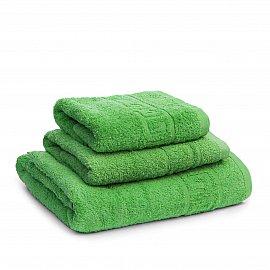 Полотенце махровое Ашхабад греческий бордюр, зеленый