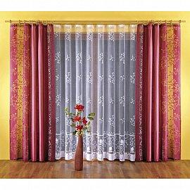Комплект штор №5765-02, бордовый