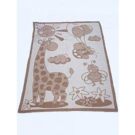 """Одеяло детское """"Жираф"""", белый, бежевый, 100*140 см"""