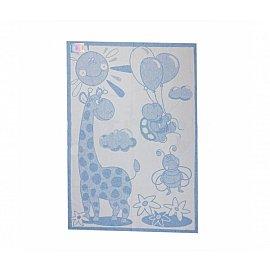 """Одеяло детское """"Жираф"""", белый, голубой, 100*140 см"""