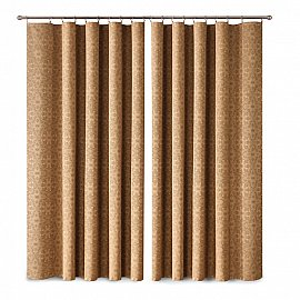 Комплект штор Primavera №1, коричневый