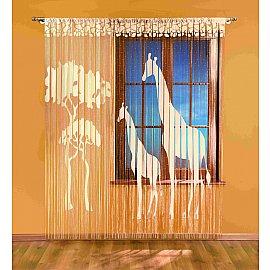 Кисея нитяная штора Wisan 3351 (90*240;150*240), кремовый