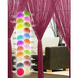 Кисея нитяная штора Haft, бордовый, 250*90 см
