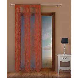 Кисея нитяная штора Jga, терракотовый, 100*250 см