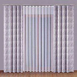 Комплект штор Primavera №1110025, серый, белый