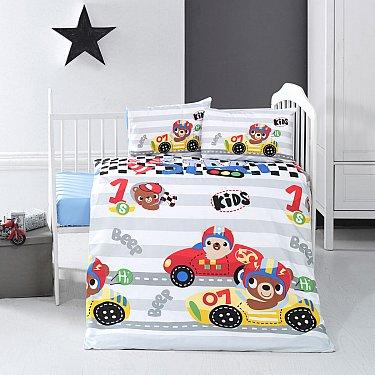 КПБ детское Arya Ранфорс Little Racer (Новорожденный)