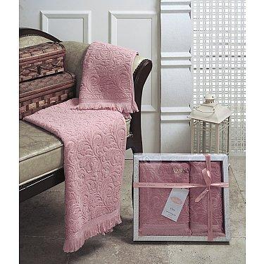 """Комплект из 2-х махровых полотенец (50*90; 70*140) """"KARNA ESRA"""", грязно-розовый"""