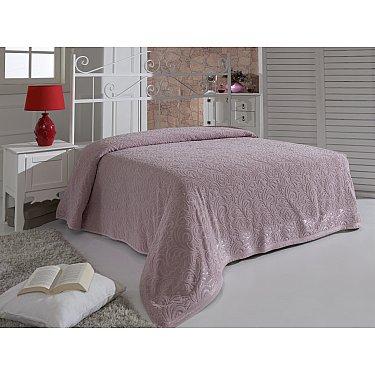 """Простынь махровая """"MODALIN ESRA"""", грязно-розовая, 200*220 см"""
