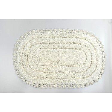 """Коврик для ванной кружевной """"MODALIN YANA"""", кремовый, 60x100 см"""