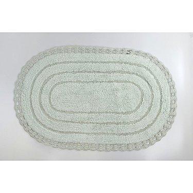 """Коврик для ванной кружевной """"MODALIN YANA"""", светло-зеленый, 60x100 см"""
