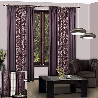 Комплект штор №109 Светло-фиолетовый