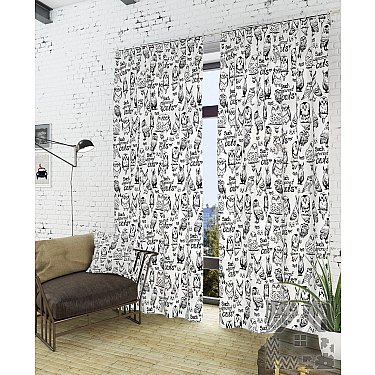 """Комплект штор """"Инис-К"""", белый, 260 см"""