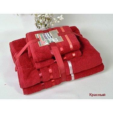 """Комплект из 4-х махровых полотенец (50*80; 70*140) """"KARNA BALE"""", красный"""