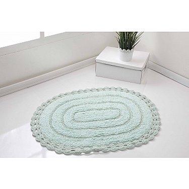 """Махровое кружевное полотенце для ног """"MODALIN YANA"""", светло-зеленый, 50*70 см"""