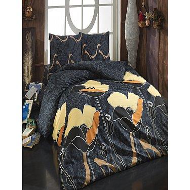 КПБ Cotton Life Juliet (70*70/2 шт), коричневый ( 1.5 спальный)