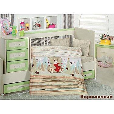 Комплект постельного белья Altinbasak AYICIK (Новорожденный), коричневый