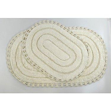 """Набор ковриков для ванной кружевной """"MODALIN YANA"""" (60x100; 50x70), кремовый"""