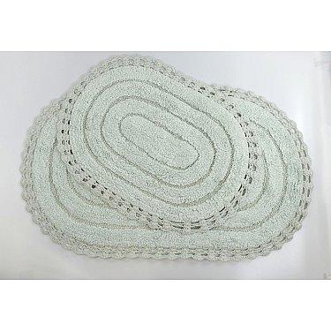 "Набор ковриков для ванной кружевной ""MODALIN YANA"" (60x100; 50x70), ментол"