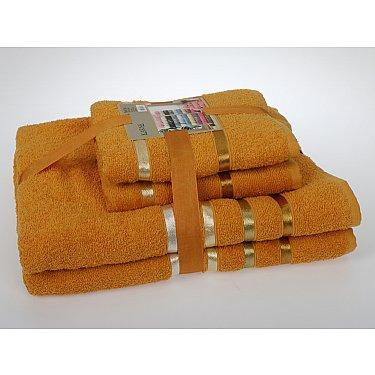 """Комплект из 4-х махровых полотенец (50*80; 70*140) """"KARNA BALE"""", темно-желтый"""