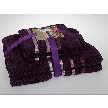 """Комплект из 4-х махровых полотенец (50*80; 70*140) """"KARNA BALE"""", фиолетовый"""