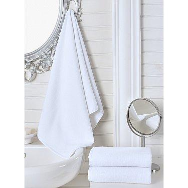 """Полотенце махровое гостиничное """"KARNA"""", белый, 100*150 см"""