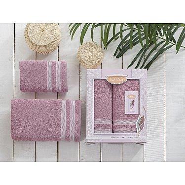 """Комплект махровых полотенец """"KARNA PETEK"""", грязно-розовый (50*90; 70*140)"""