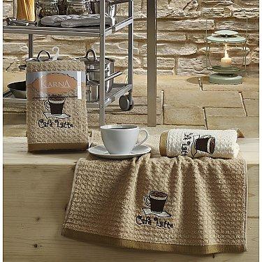 """Набор кухонных полотенец """"KARNA LEMON"""" Коричневый, v1, 45*65 см - 2 шт"""