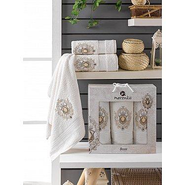 Комплект махровых полотенец Merzuka Boss (50*80*2; 70*130), кремовый