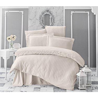 Комплект постельного белья KARNA PERLA Бамбук (Евро), кремовый