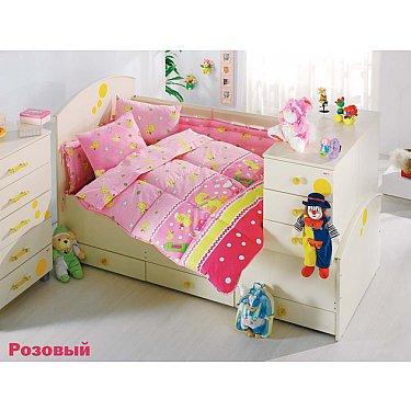 Комплект постельного белья Altinbasak VAK VAK (Новорожденный), розовый