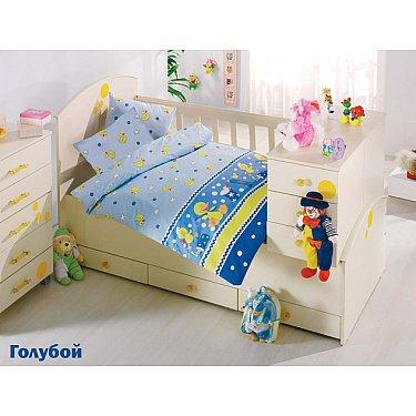 Комплект постельного белья Altinbasak VAK VAK (Новорожденный), голубой